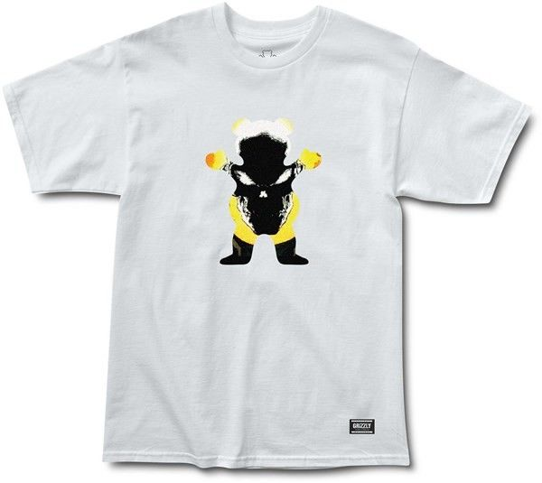 koszulka GRIZZLY - Grizzly X Ghost Rider White (WHITE)