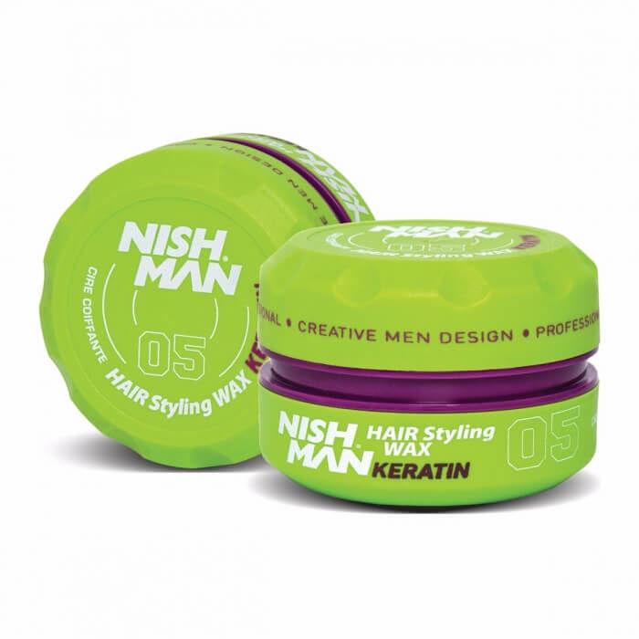 Nishman Styling Wax 05 Keratin pomada pogrubiająca i rozświetlająca o zapachu owoców leśnych 150ml