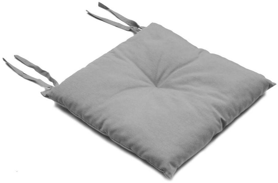 Poduszka na krzesło Silla szara 40 x 40 x 2 cm