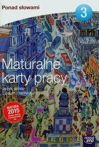 Ponad słowami 3 Maturalne karty pracy - Joanna Kuchta
