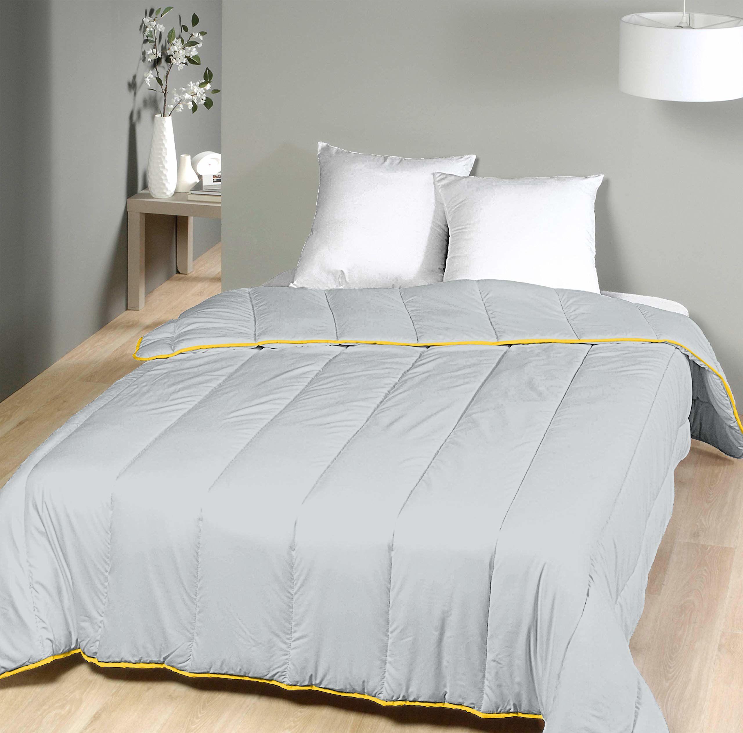 Laurentmortreux kołdra pikowana, 240 x 260 cm, ciepła, poliester, 240 x 260 cm, jasnoszara