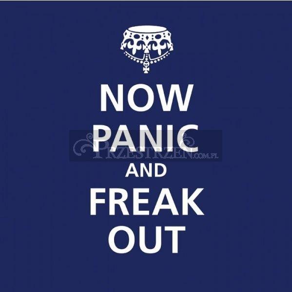 KOKTAILOWE SERWETKI PAPIEROWE - Now Panic and Freak Out