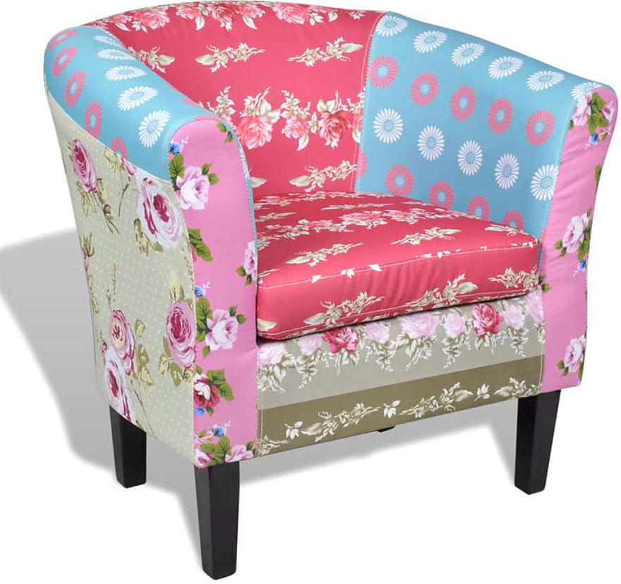 Klubowy fotel patchworkowy Cadis 2X