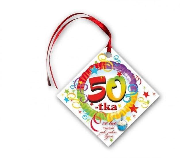 Zawieszki na butelki 50 Urodziny 20 sztuk KW203