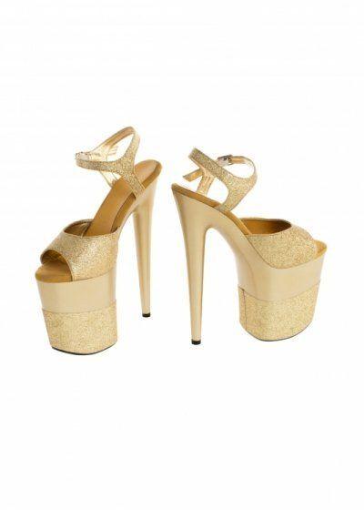 Buty- platformy złote błyszczące 39