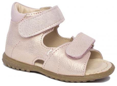EMEL E2431D-6 sandałki sandały profilaktyczne ROCZKI złoty róż