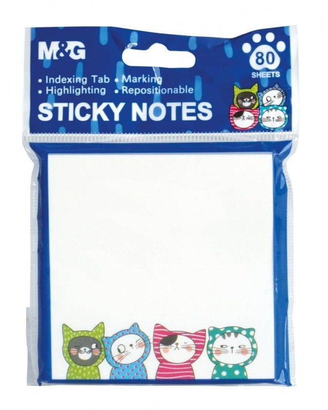 Notes samoprzylepny biały 80k 76x76 So Many Cats YS-377