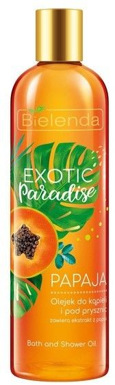 Bielenda Exotic Paradise Olejek do kąpieli i pod prysznic Papaja 400ml
