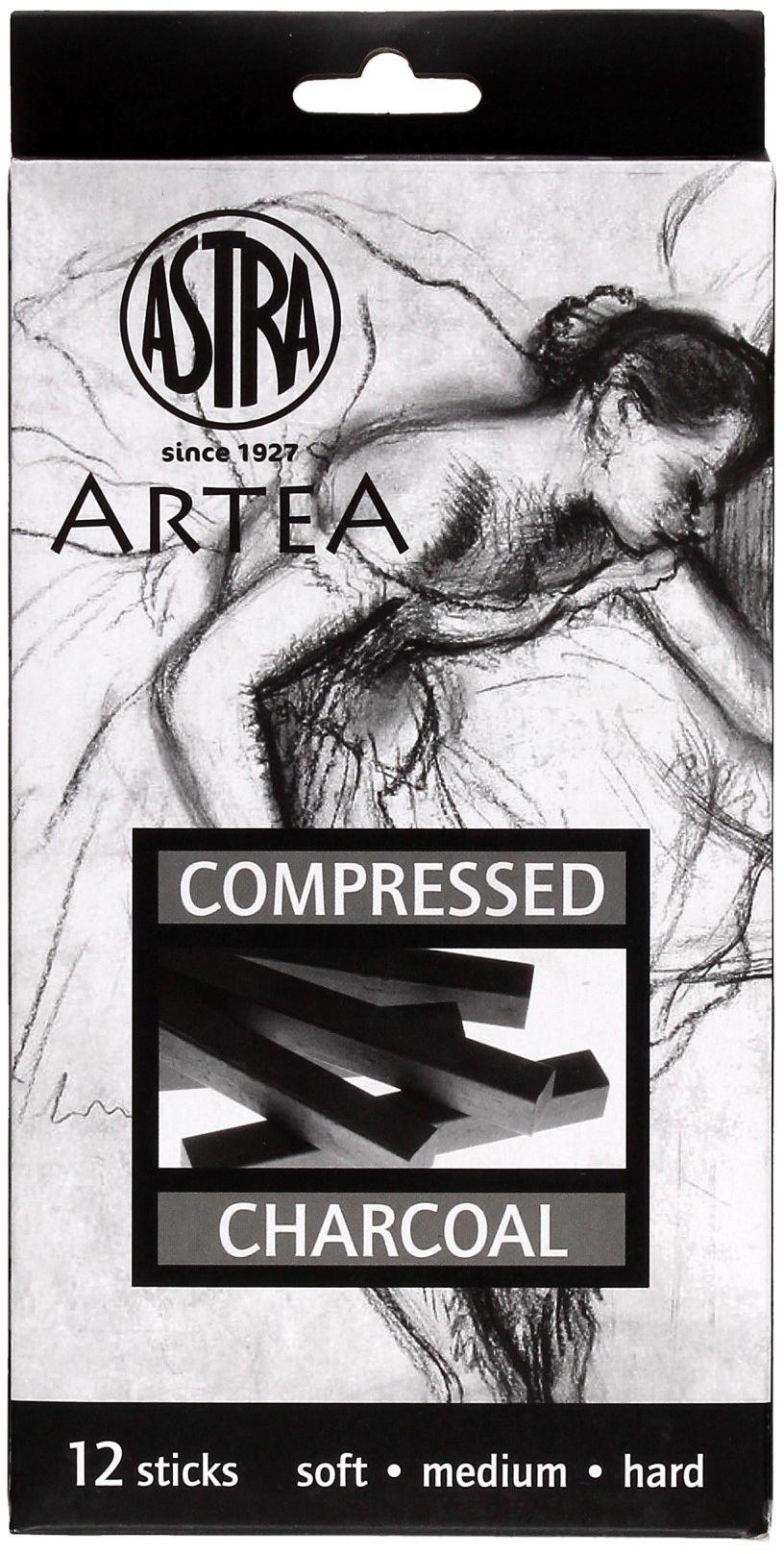 Zestaw węgiel prasowany czarny Astra (12) 323115005
