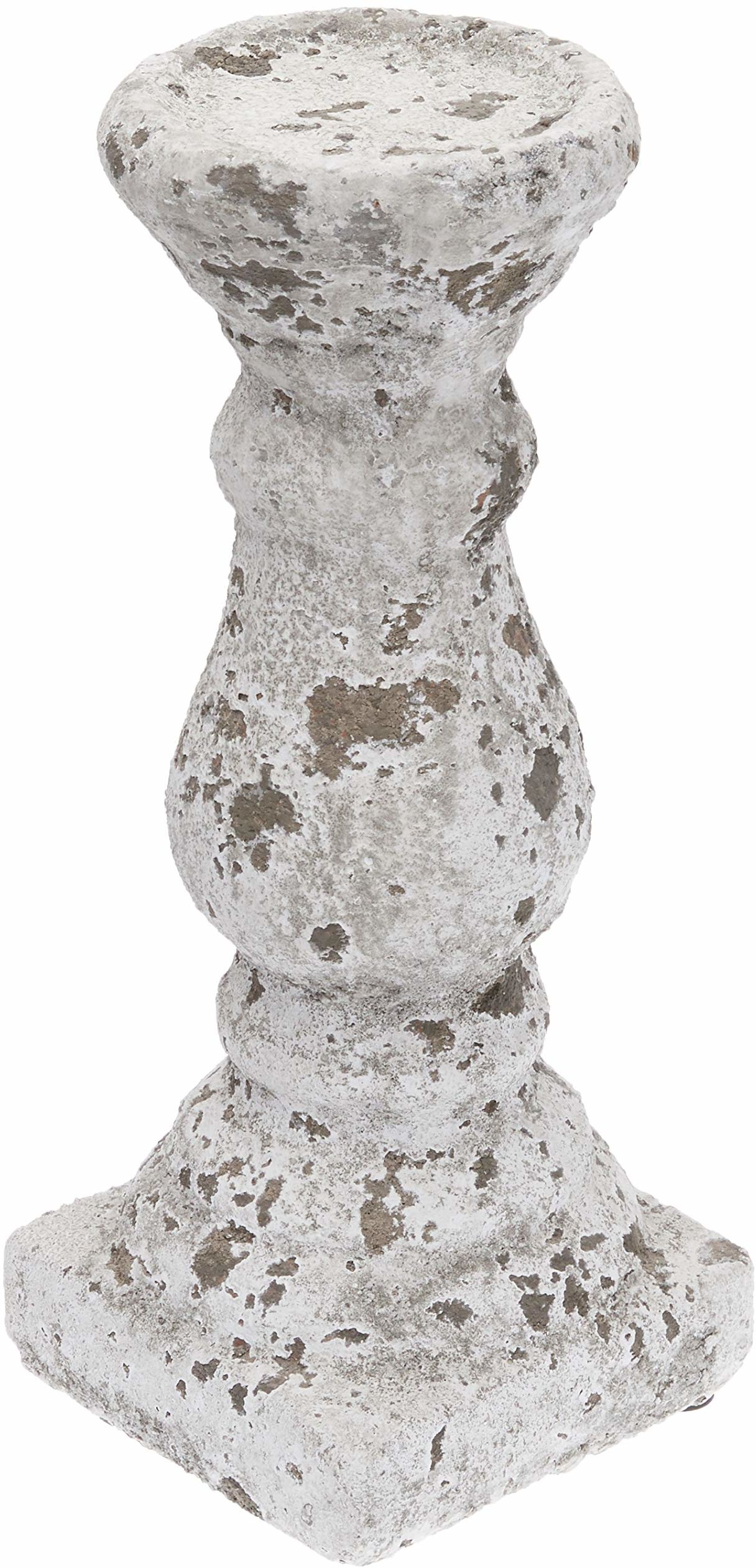 Better & Best świecznik 1 świeca bryłowa, szary, wymiary 12 x 12 x 29 cm, materiał: cement, rozmiar uniwersalny