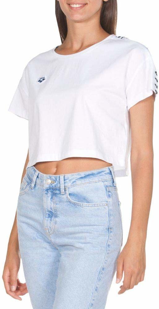 Arena Damska koszulka z ikonami areny Corinne Team T-shirt Biało-biało-czarny M
