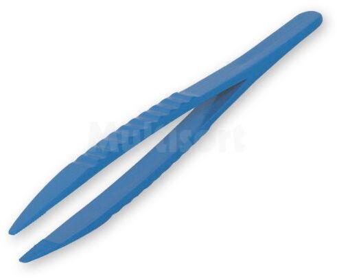 Pęseta prosta plastikowa z tworzywa ABS 125mm