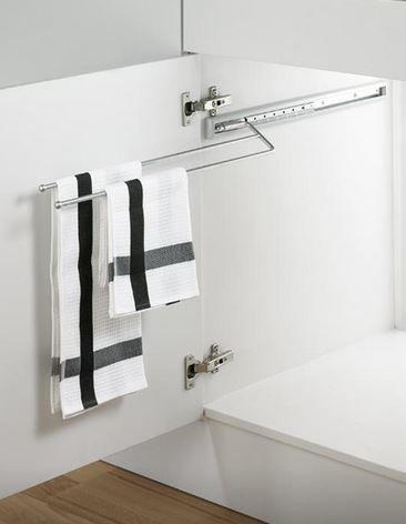 Peka -Wieszak wysuwany na ręczniki 2-palcowy 10.06.C
