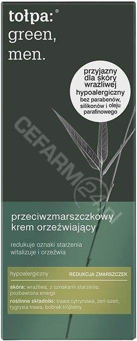 Tołpa Green Men Krem przeciwzmarszczkowy, orzeźwiający 50 ml