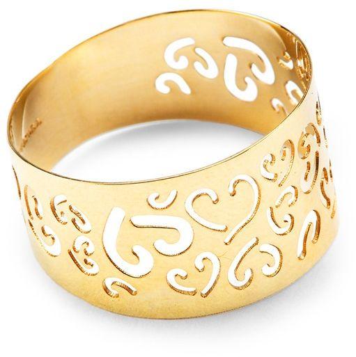 Staviori pierścionek z wyciętymi sercami żółte złoto 0,333. szerokość 10 mm. pxc4659