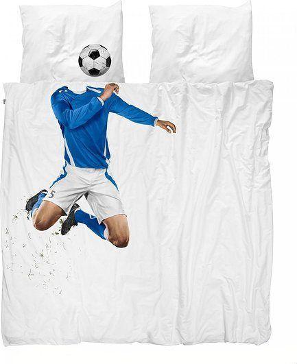 Pościel soccer champ 200 x 200 cm niebieska