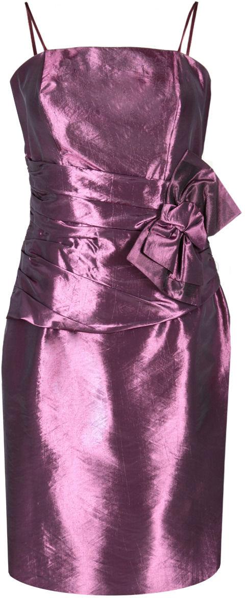 Sukienka FSU202 AMARANTOWY CIEMNY