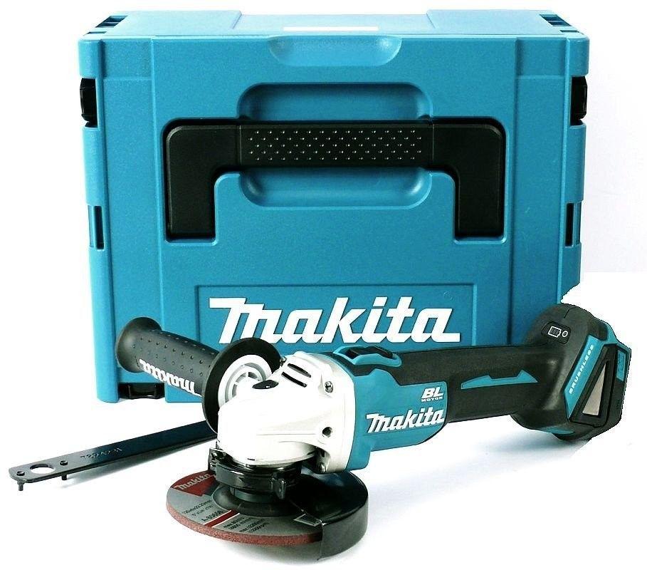 akumulatorowa szlifierka kątowa 125mm, 18V Li-Ion, LXT Makita [DGA506ZJ] + 15 tarcz do metalu