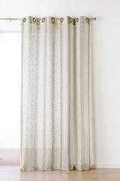 Linder 1168/33/375FR zasłona w paski poliester/len/bawełna 150 x 280 cm, Marécage, 150 x 280 cm