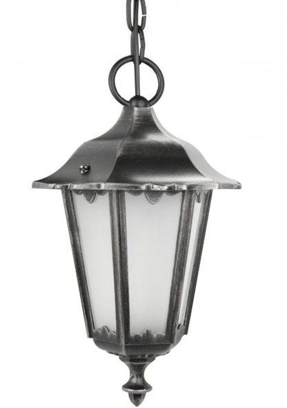 Lampa wisząca klosz ozdobny Retro Midi K 1018/1/M silver