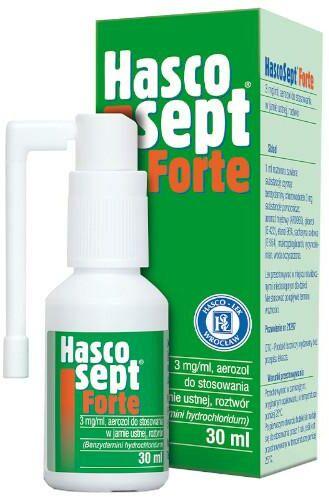 Hascosept Forte 3 mg/ml aerozol 30 ml