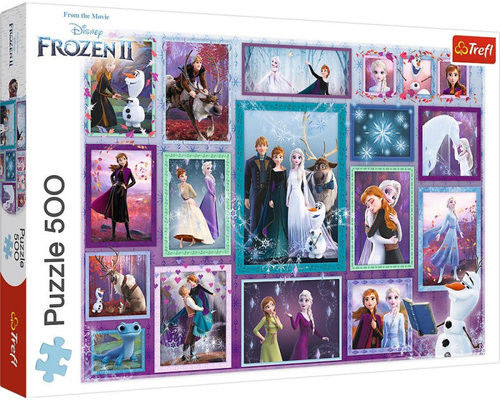 Puzzle TREFL 500 - Frozen II - Magiczna galeria, Magic gallery