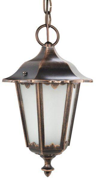 Lampa wisząca klosz ozdobny Retro Midi K 1018/1/M miedź