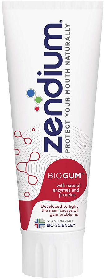 ZENDIUM BIOGUM 75ml - pasta do zębów i problemów z dziąsłami zawierająca naturalne enzymy