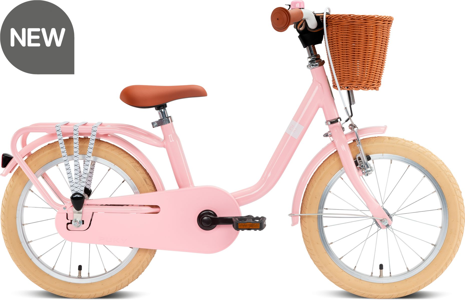 Puky rower STAL Steel Classic 16 retro róż 4121