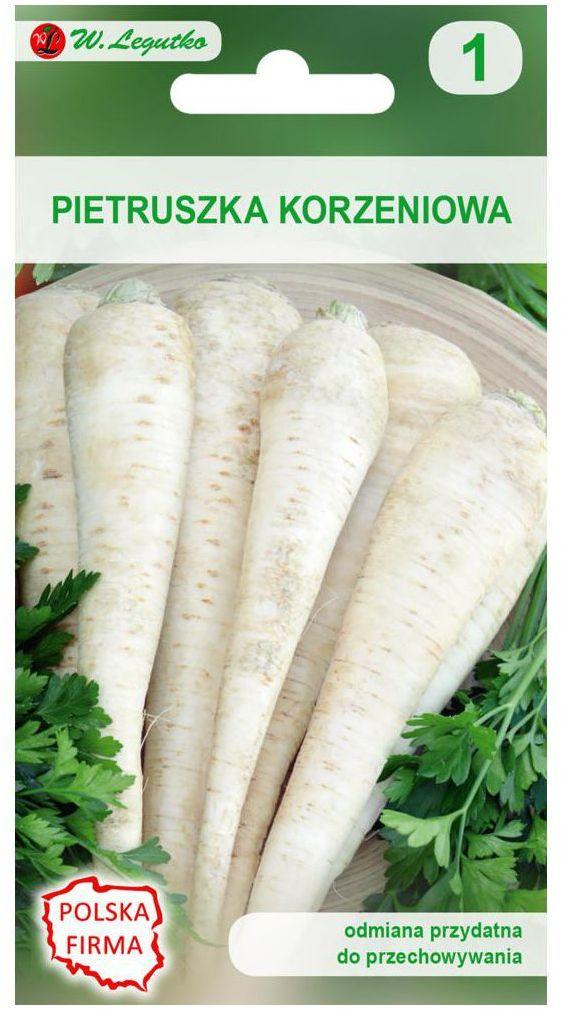 Pietruszka korzeniowa HALBLANGE (BERLIŃSKA) nasiona tradycyjne 5 g W. LEGUTKO