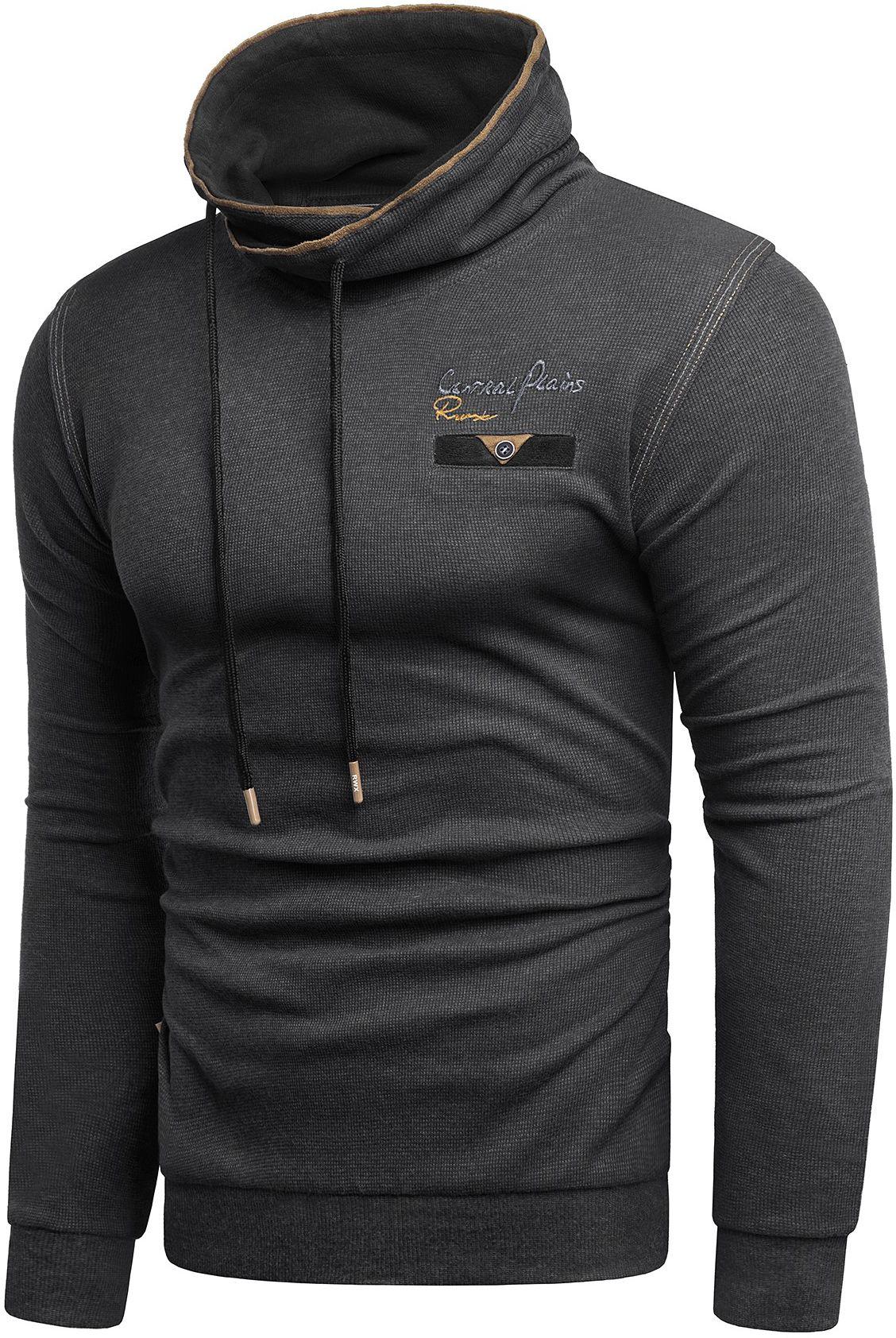 Ciepła Bluza komin 5323 - czarna