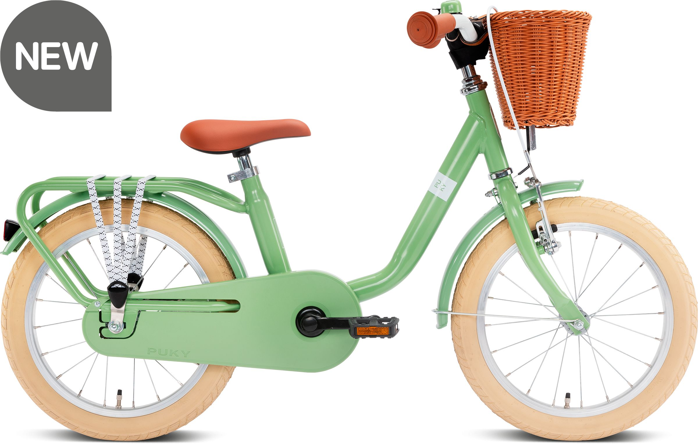 Puky rower STAL Steel Classic 16 retro green 4233