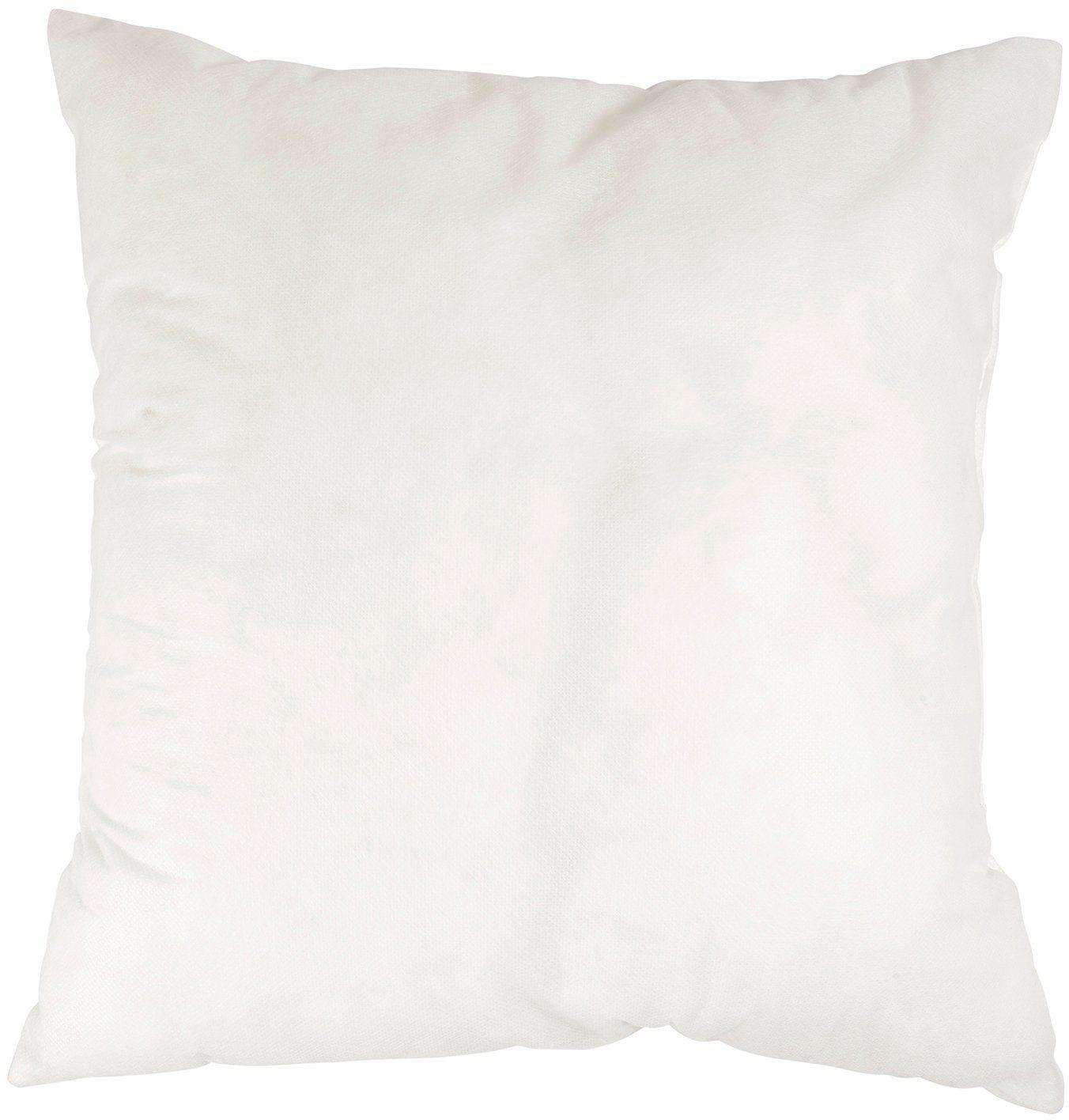 ostaria Wypełnienie poduszki kwadratowe, poliester, białe, 40 x 12 x 40 cm