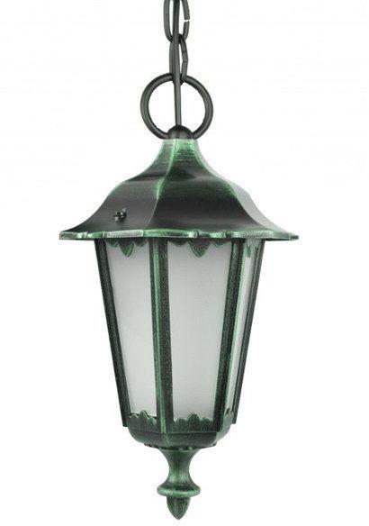 Lampa wisząca klosz ozdobny Retro Midi K 1018/1/M zielony