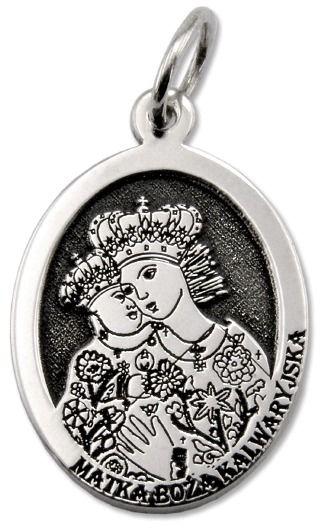 Medalik srebrny z wizerunkiem matki bożej kalwaryjskiej med-mbkal-01