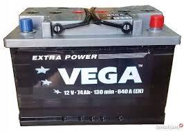 Akumulator VEGA 74Ah 640A Prawy+ RASZYN
