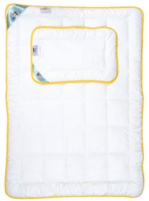 Kołdra dziecięca 90x120 AMZ Niedźwiadek Honey z poduszką 40x60 Antyalergiczna