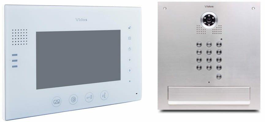 Skrzynka na listy Vidos z monitorem M670W-S2/S561D-SK