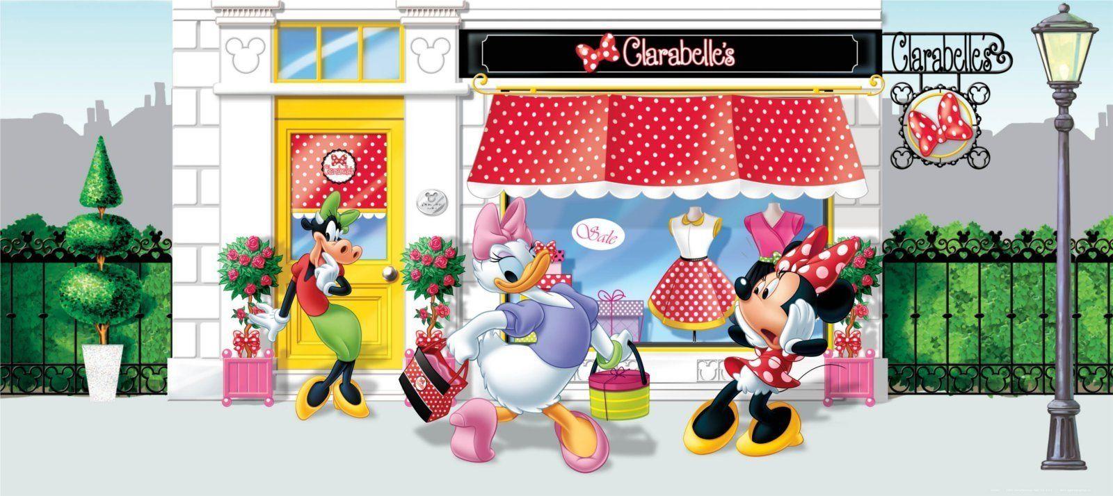 """Disney Princess"""" Myszka Minnie Disney zdjęcie mural tapeta do pokoju dziecięcego, papier, wielokolorowa, 0,1 x 202 x 90 cm"""