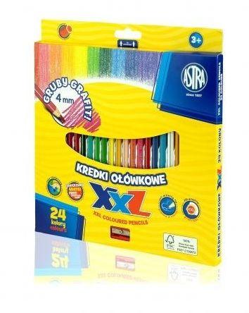 Kredki ołówkowe 24 kolory XXL grafit 4 mm Astra 312120004