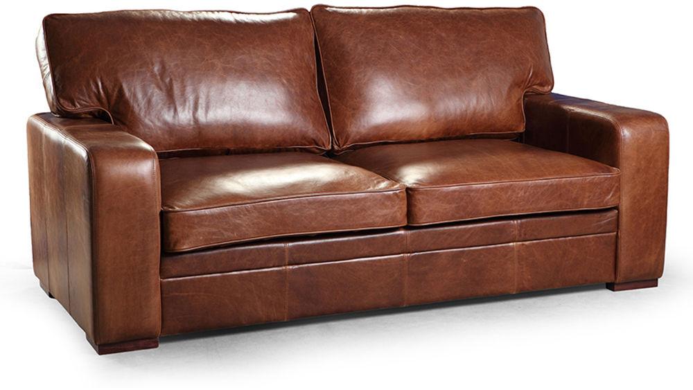 Sofa, kanapa EsteliaStyle Buffo, 4os., naturalna skóra, tkanina