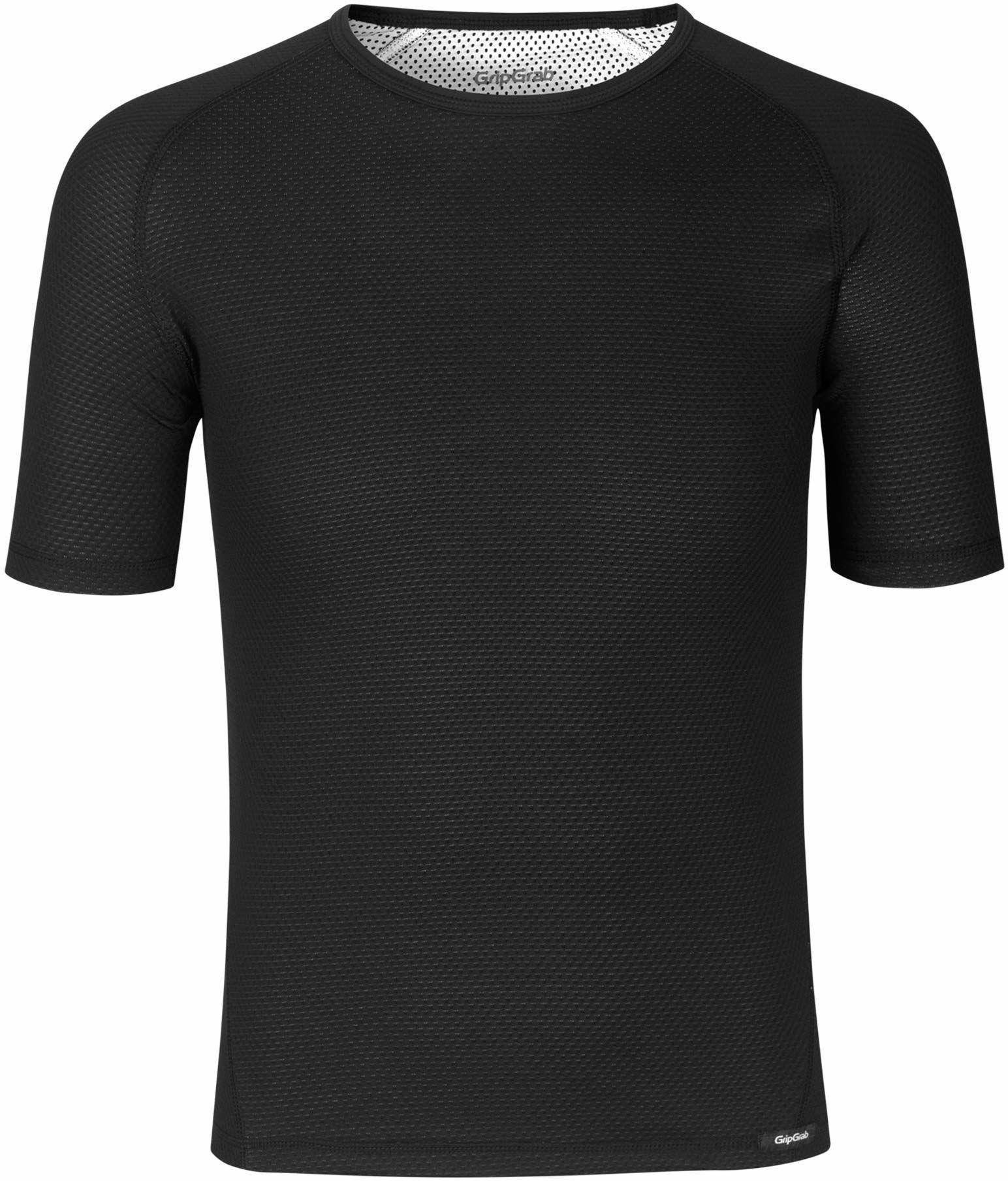 GripGrab Ride Thermo zimowa koszulka z krótkim rękawem do jazdy na rowerze - antybakteryjna - czarna, biała, niebieska, 1 opakowanie i 3 szt.