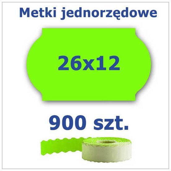 Metki jednorzędowe 26x12 zielone, fala 4500szt