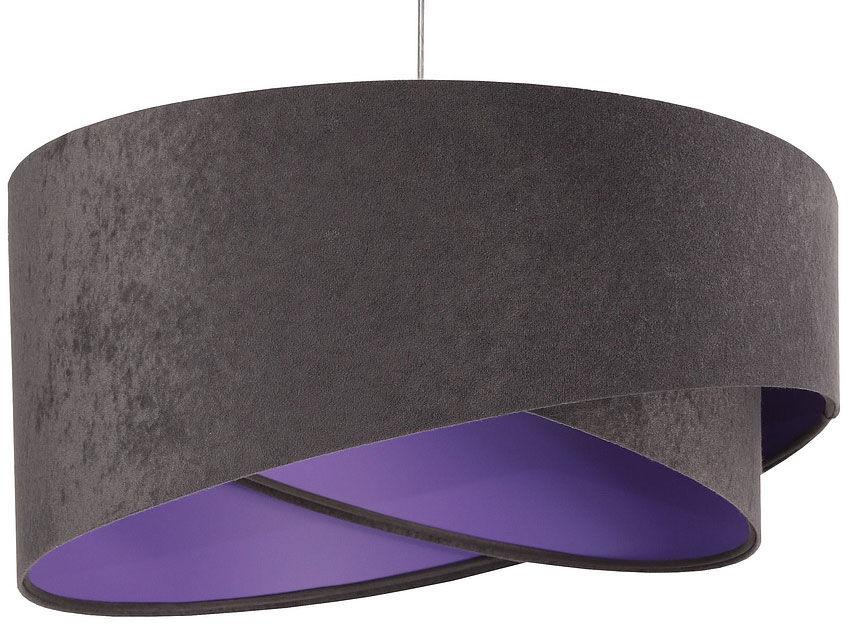 Grafitowo-fioletowa skandynawska lampa wisząca - EX991-Delva