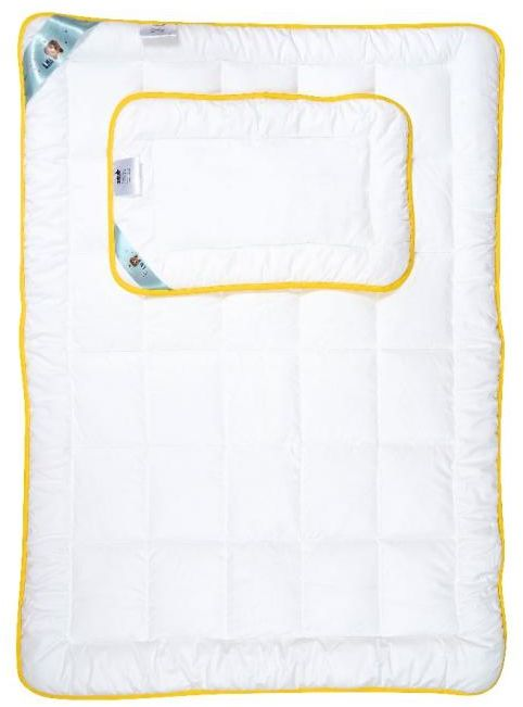 Kołdra dziecięca 100x135 AMZ Niedźwiadek Honey z poduszką 40x60 Antyalergiczna