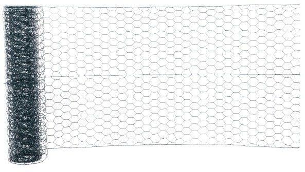 Siatka ogrodzeniowa heksagonalna Blooma PVC 13 mm 1 x 10 m ocynk