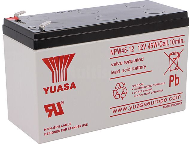 Akumulator kwasowo-ołowiowy YUASA 12V 8,5Ah 151x65x94mm 45W