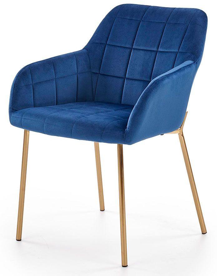 Krzesło pikowane Ansel - granatowe