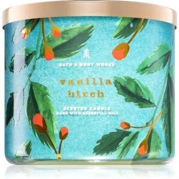 Bath & Body Works Vanilla Birch świeczka zapachowa z olejkami eterycznymi 411 g