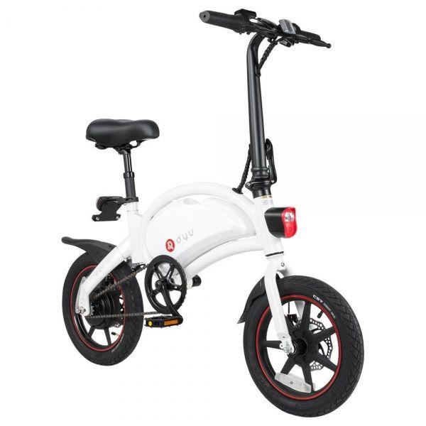 DYU D3 + składany motorower rower elektryczny 14 cali 240W - biały